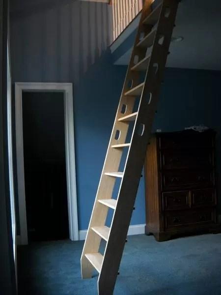 Custom Ship Ladders Narrow Alternating Tread Stair Acadia Stairs   Wood Alternating Tread Stair   Modern Staircase   Stair Case   Thomas Jefferson   Spiral Staircase   Tread Depth