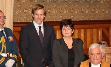 Le premier ministre Brian Gallant en compagnie de la nouvelle lieutenante-gouverneure. - Gracieuseté