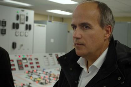 Le PDG d'Énergie NB, Gaétan Thomas, a participé, lundi, à la réouverture officielle du poste convertisseur Eel River. - Acadie Nouvelle: jean-François Boisvert