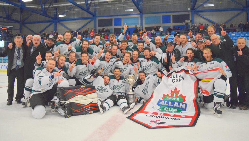 Les Cataracts de Grand Falls-Windsor célèbrent la conquête de la coupe Allan. - Acadie Nouvelle: Stéphane Paquette