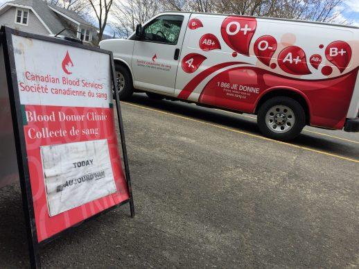 La Société canadienne du sang a tenu, mardi et mercredi, ses deux dernières collectes au Restigouche. - Acadie Nouvelle: Jean-François Boisvert