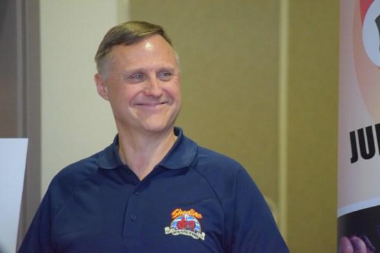 Jacques LeBlanc avait le sourire fendu jusqu'aux oreilles lors de la présentation du Festival du Homard de Shediac. - Acadie Nouvelle : Anthony Doiron