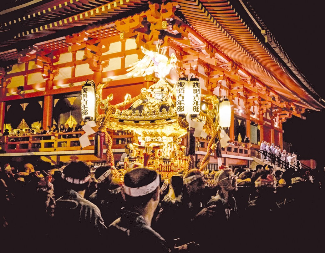 Le moment fort du festival reste le défilé des mikoshi. – Gracieuseté