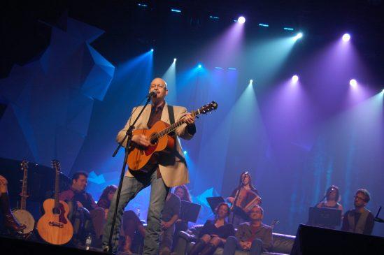 Denis Richard lors du spectacle la Relève et la Garde présenté à Bathurst en mai 2012. - Archives