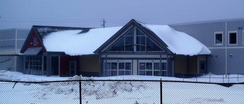L'ancienne quincaillerie BMR à Caraquet. Acadie Nouvelle : David Caron. 13 décembre 2017.