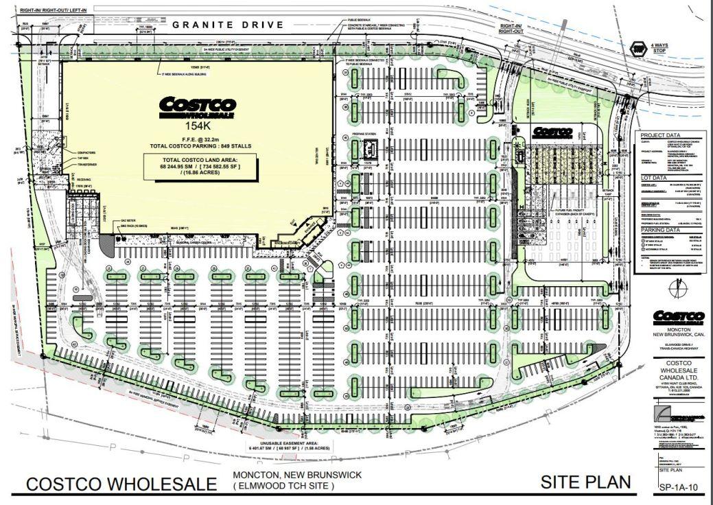 Les plans du nouveau Costco de Moncton. - Gracieuseté