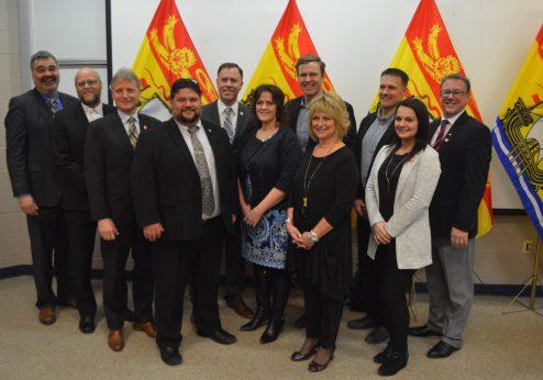 Le premier ministre Brian Gallant avait une bonne nouvelle à annoncer lundi pour les collèges communautaires de la province. - Acadie Nouvelle: Jean-François Boisvert