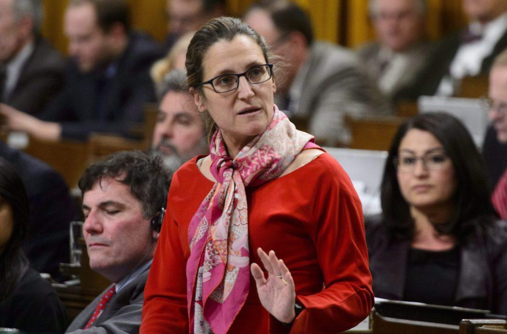 La ministre canadienne des Affaires étrangères Chrystia Freeland - La Presse canadienne: Sean Kilpatrick