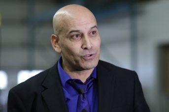Le coordonnateur du programme d'introduction à la construction pour les immigrants, Khalid Badrezzamane. - Acadie Nouvelle: Patrick Lacelle