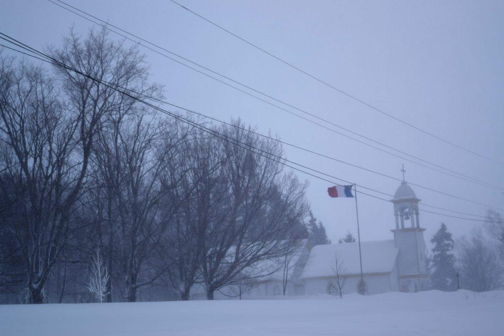 Le blizzard frappe de plein fouet la Péninsule acadienne (ici, à Caraquet). - Acadie Nouvelle: David Caron