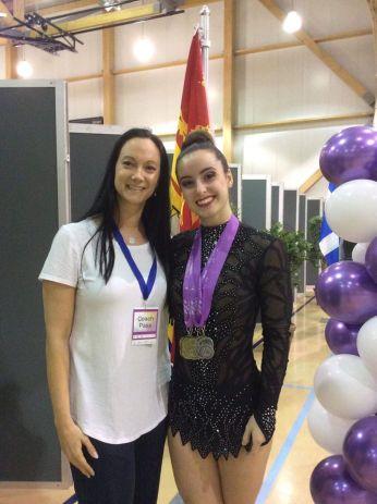 Maïka Blanchard et son entraîneure Rachel Haché. - Gracieuseté