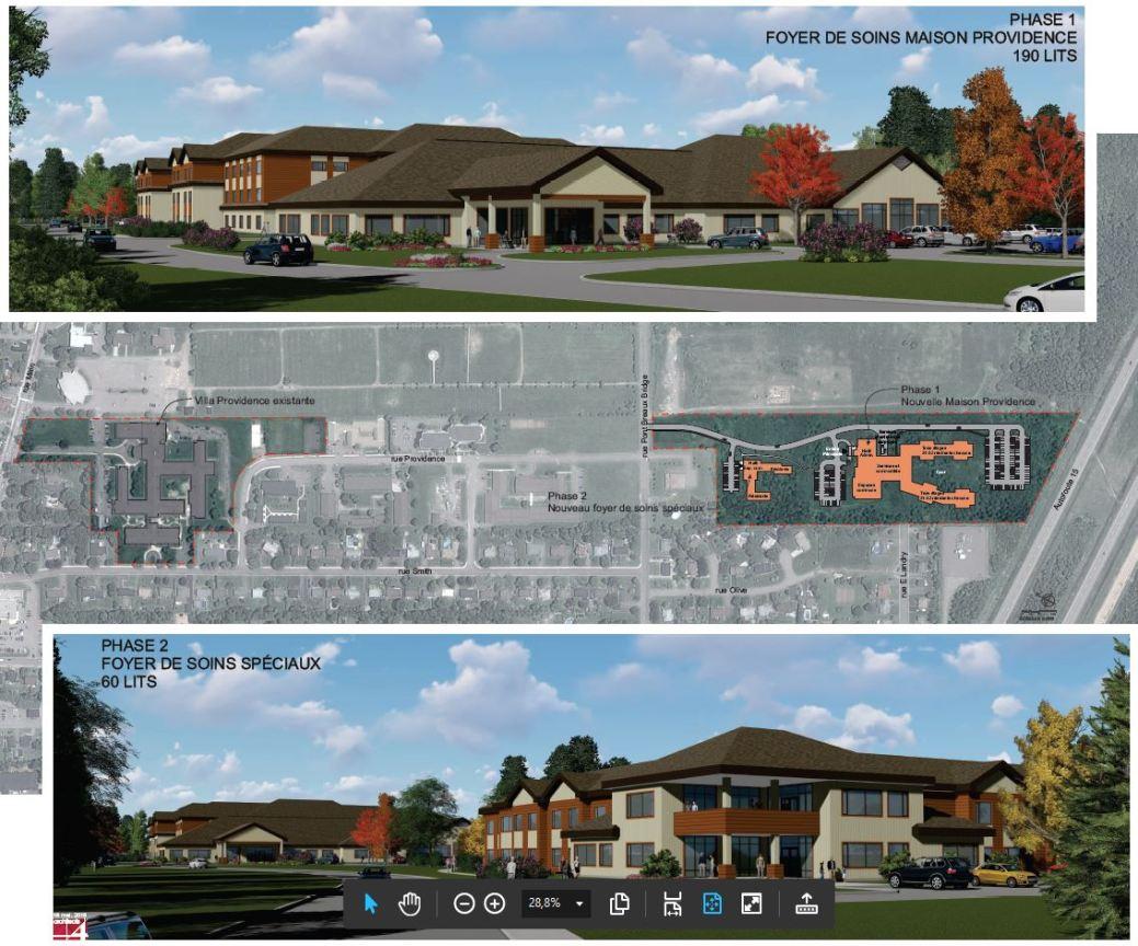 La Villa Providence a des plans depuis des années maintenant pour construire un nouvel édifice qui doit remplacer celui qui est aujourd'hui désuet. - Gracieuseté