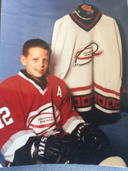 Alex Chiasson, à l'époque du hockey mineur. - Gracieuseté