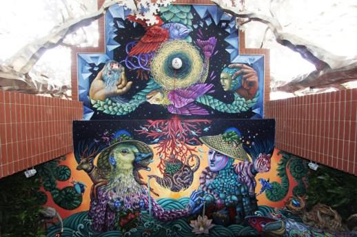 Danaé Brissonnette a réalisé cette fresque à Taiwan. - Gracieuseté