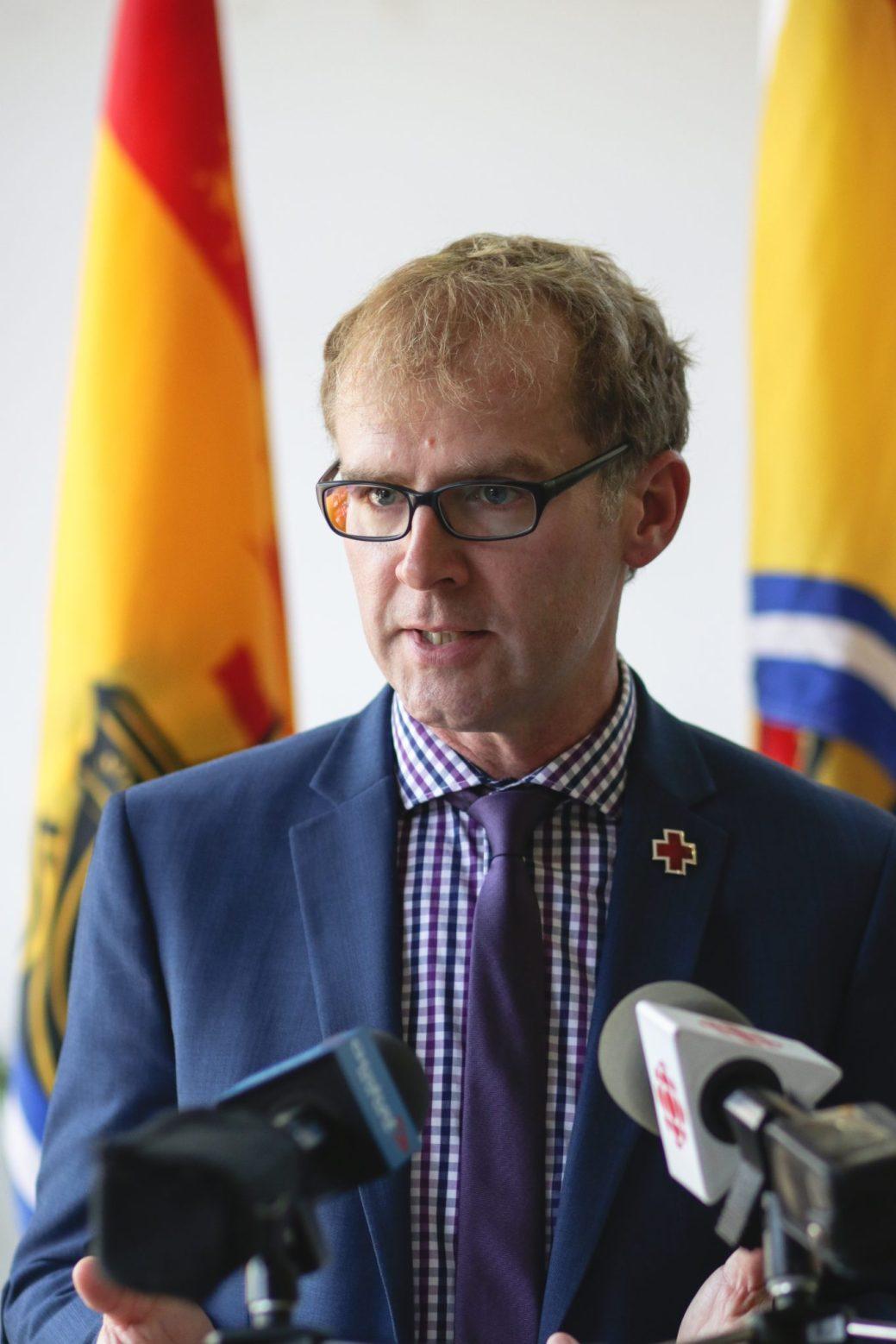 Bill Lawlor, directeur provincial de la Croix rouge. - Acadie Nouvelle: Patrick Lacelle