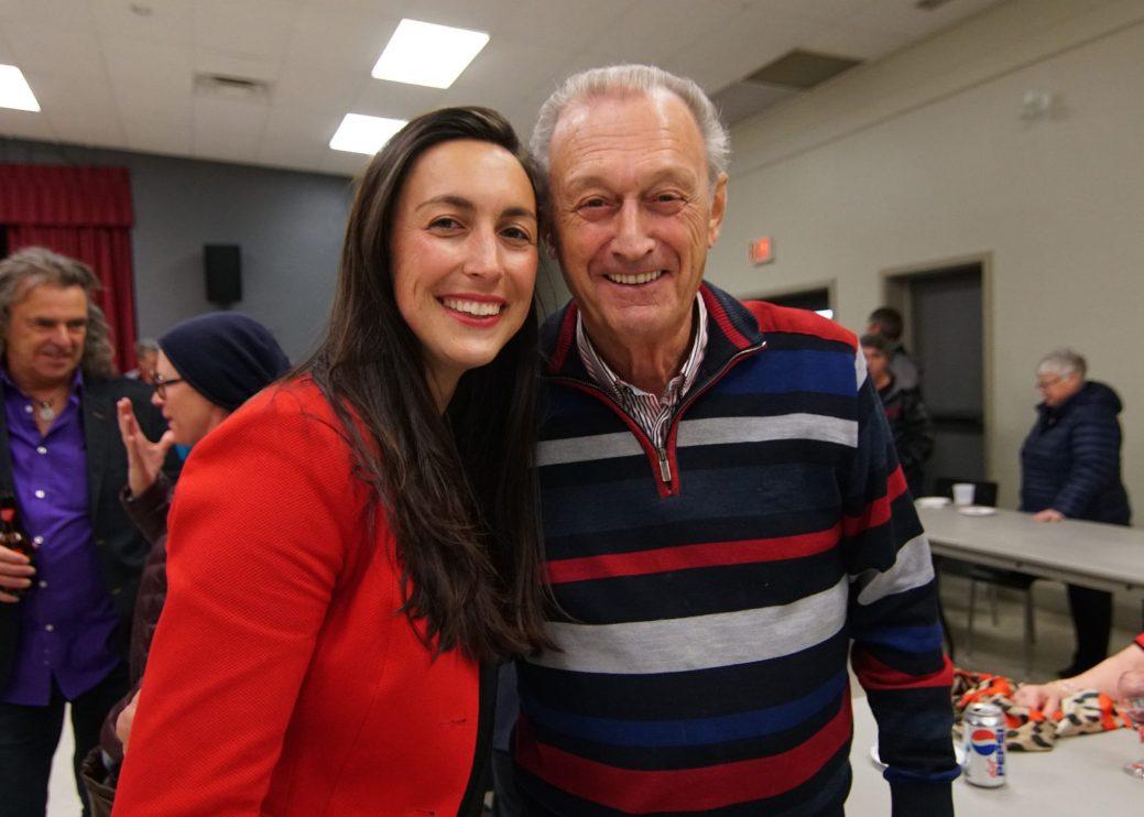 La nouvelle députée de Caraquet avec l'ancien, Hédard Albert. - Collaboration spéciale: Louis Légère