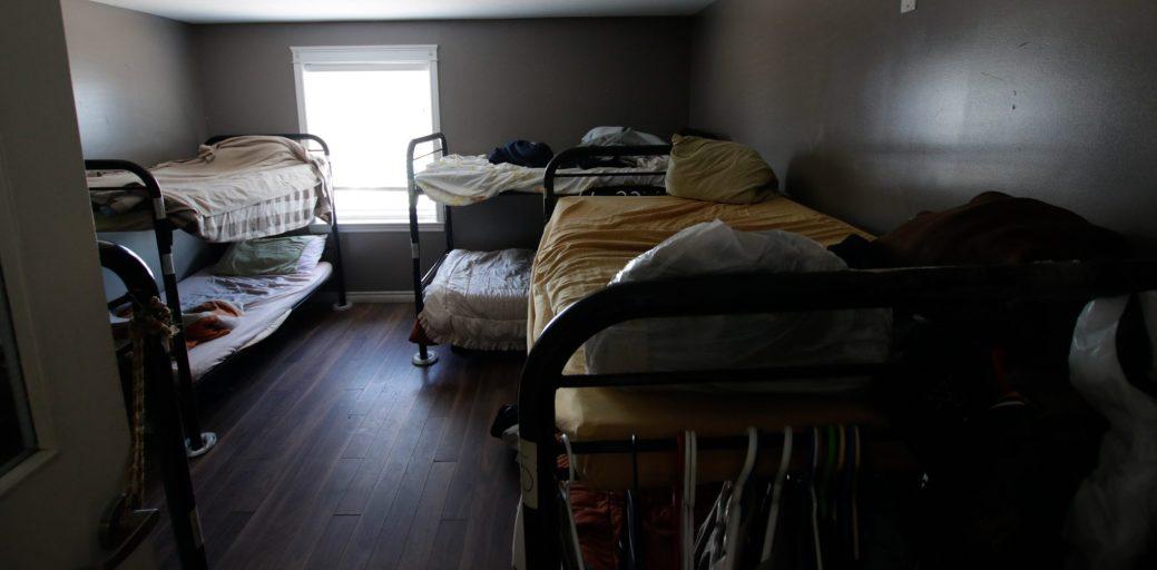 Une des chambres de la Harvest House dans laquelle huit personnes passeront la nuit. - Acadie Nouvelle : Patrick Lacelle