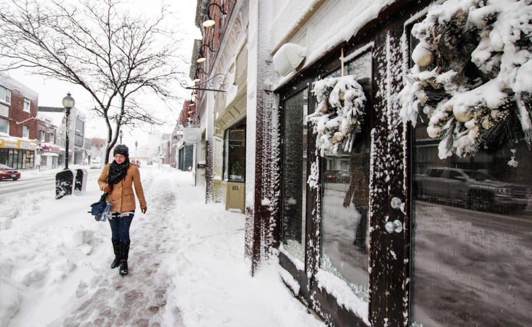 Le sud-est du Nouveau-Brunswick a été balayé par une tempête de neige jeudi. - Acadie Nouvelle: Patrick Lacelle