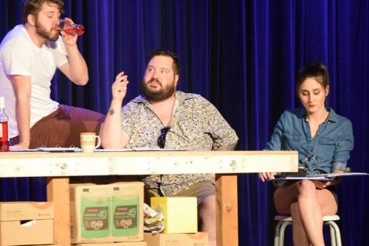 Miguel Roy, David Losier et Brigitte Gallant dans la pièce Les préliminaires. - Acadie Nouvelle: Sylvie Mousseau
