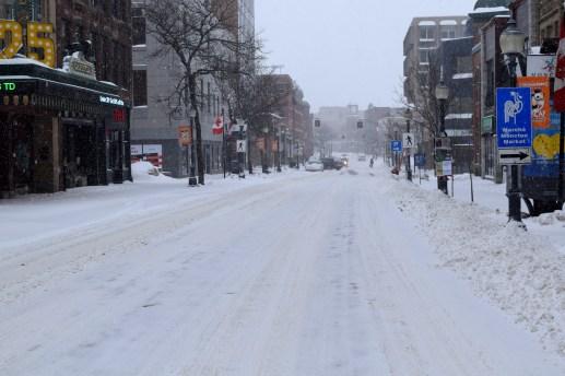 Le centre-ville de Moncton était déserté ce dimanche. - Acadie Nouvelle: Simon Delattre