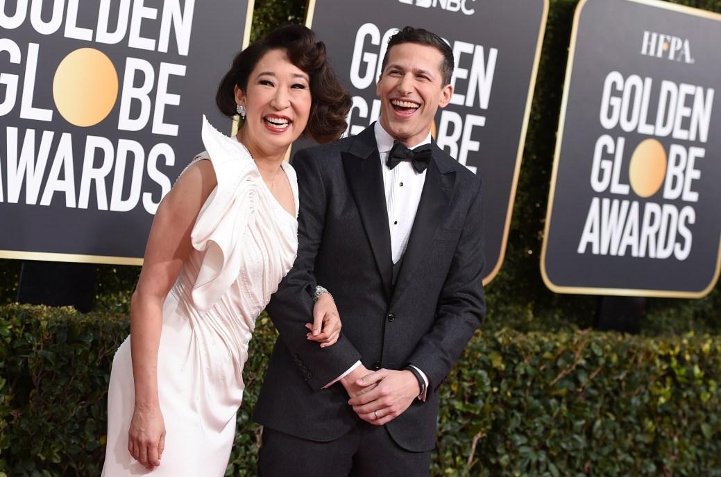 Sandra Oh et Andy Samberg. - Associated Press