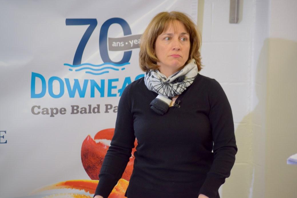Joanne Losier a tenu à rassurer les employés affectés par la perte de l'usine. - Acadie Nouvelle: Simon Delattre