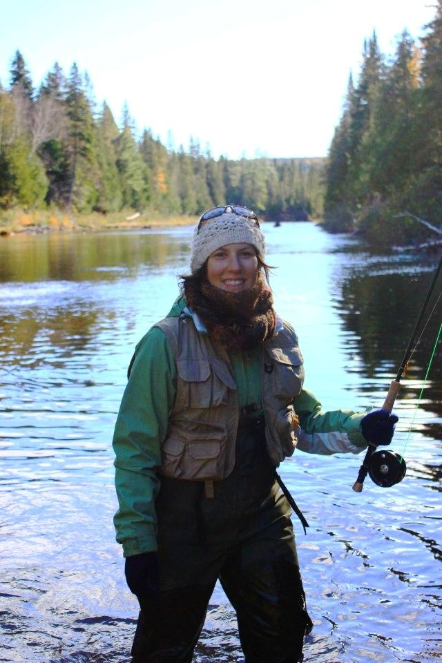 Biologiste de formation originaire de Campbellton, Carole-Anne Gillis a choisi de s'attaquer aux nombreux défis que l'on retrouve dans les cours d'eau du bassin versant de la Restigouche. - Gracieuseté