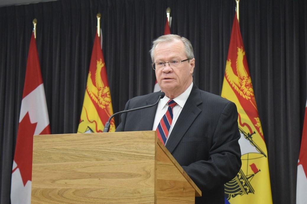 Le ministre de la Santé, Ted Flemming. - Acadie Nouvelle: Mathieu Roy-Comeau