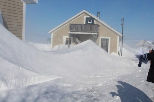 L'accès à la remise d'Albert Gosselin est totalement bloqué. - Acadie Nouvelle: Réal Fradette