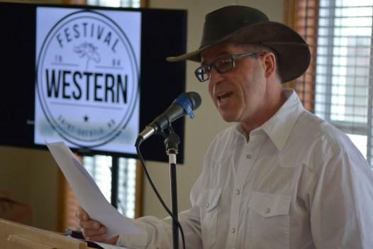 Bertrand LeClerc, président du comité organisateur du Festival Western de Saint-Quentin. - Acadie Nouvelle Jean-François Boisvert