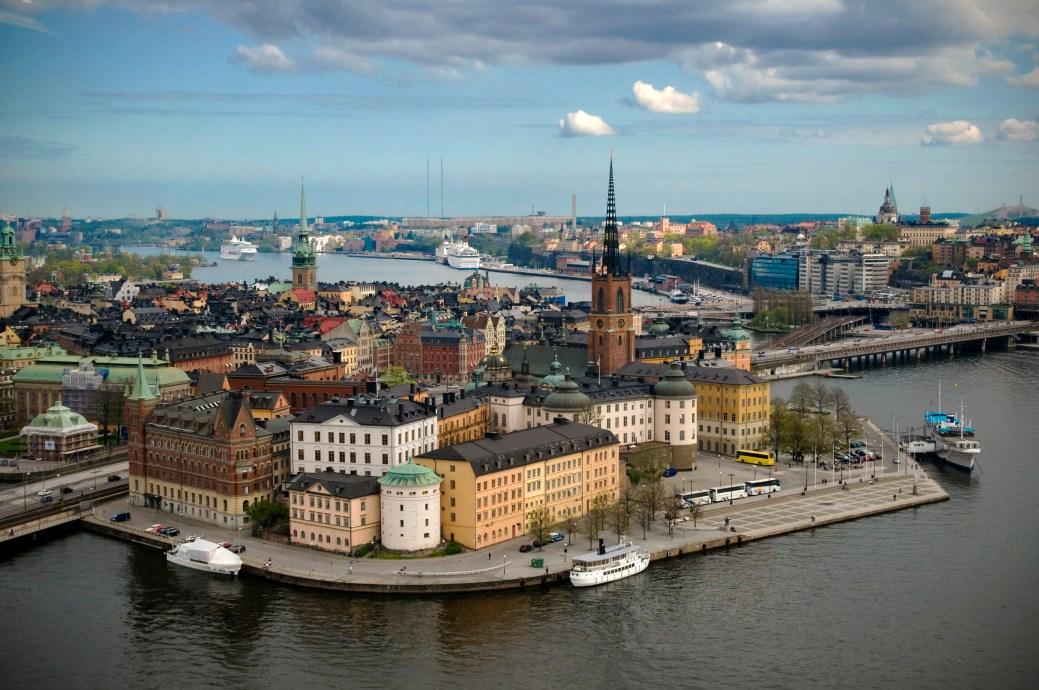 La ville de Stockholm, en Suède. - Archives