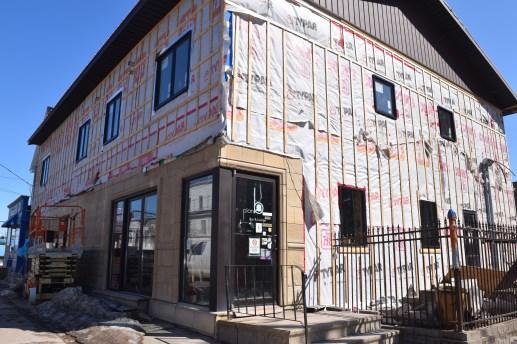 Un édifice en rénovation au centre-ville de Moncton. - Archives