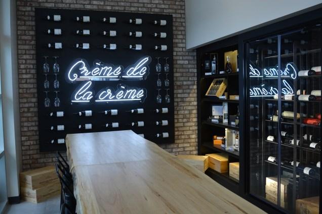 La cave à vin du magasin servira de bar à dégustation. - Acadie Nouvelle: Alexandre Boudreau