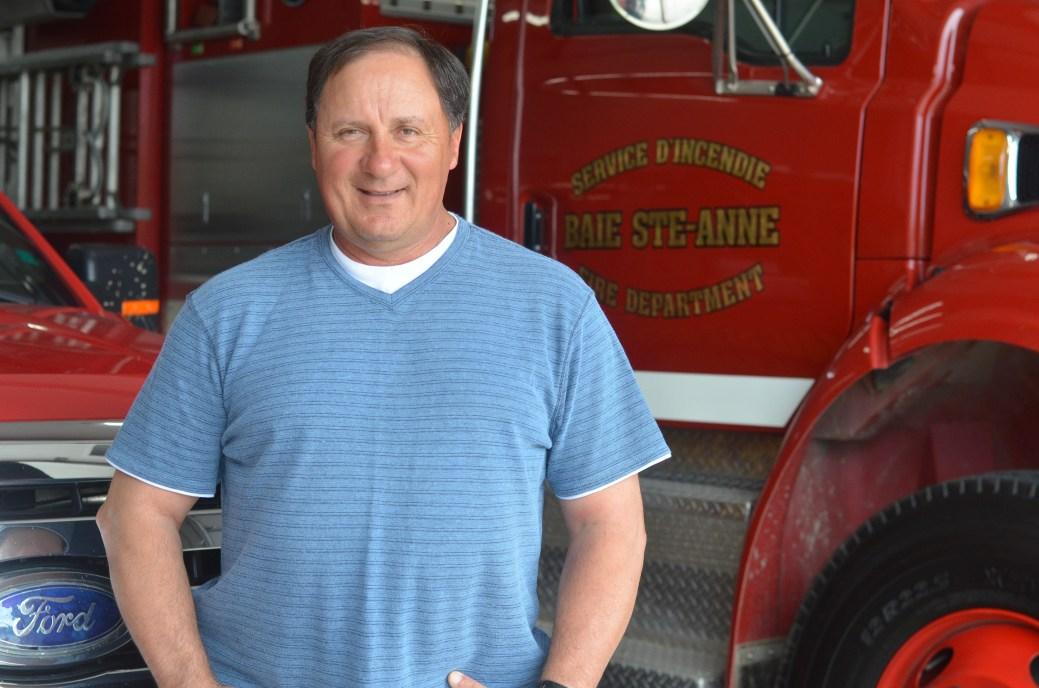 Ligouri turbide, chef pompier de Baie-Sainte-Anne. - Archives
