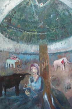 Une peinture de Réjean Toussaint exposée à Dieppe. - Acadie Nouvelle: Sylvie Mousseau