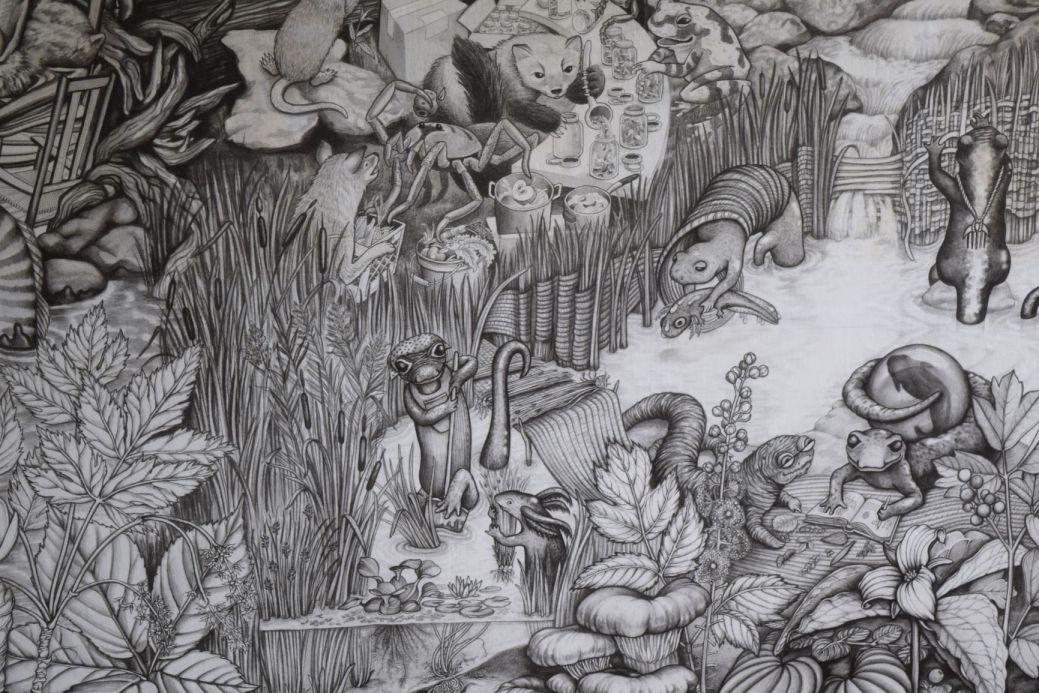 Une petite partie de la murale du BeeHive Collective. - Acadie Nouvelle: Lili Mercure