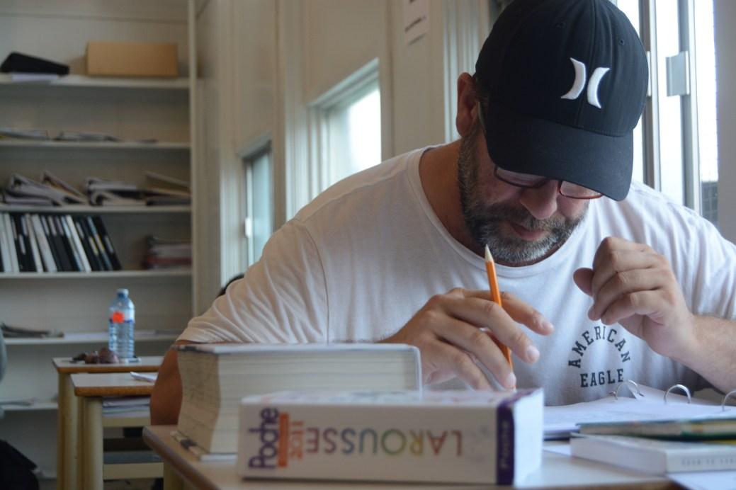 Shawn est un charpentier de 47 ans, étudiant au GED. - Acadie Nouvelle: Cédric Thévenin