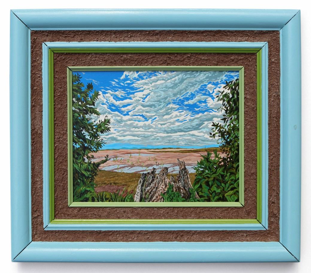 Jonathan Mayers a créé ce tableaux après avoir constater ses ancêtres étaient les Melanson qui ont cofondé Grand Pré. - Gracieuseté de Jonathan Mayers et de la galerie Arthur Roger.