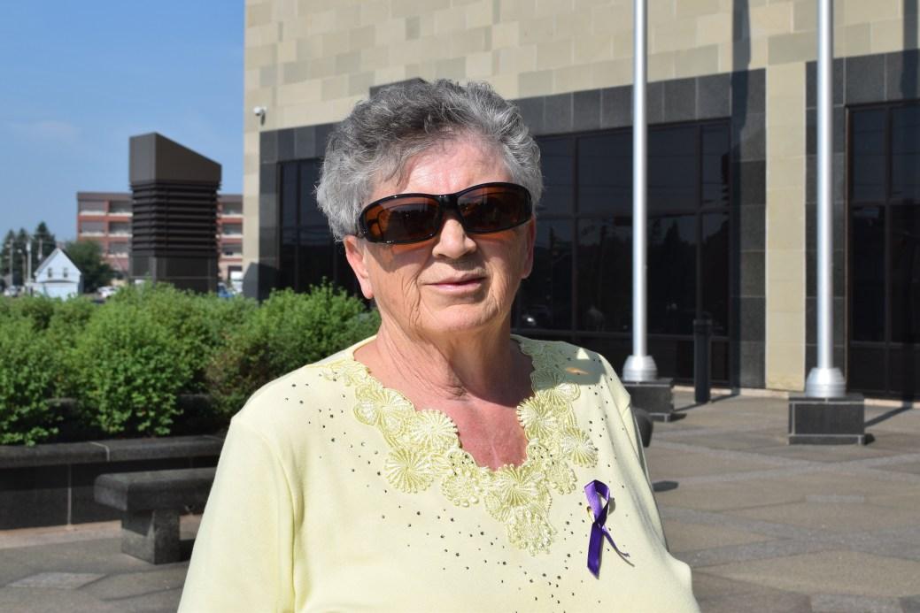 Norma Melanson, la mère de Natasha Poirier, qui a été agressée au CHU Dumont en mars. - Acadie Nouvelle: Lili Mercure