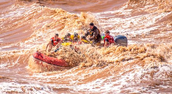 En Nouvelle-Écosse, plusieurs entreprises proposent des excursions de rafting sur le mascaret de la rivière Shubenacadie. - Gracieuseté