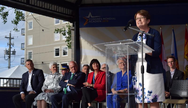 Claudette Thériault, présidente du CMA, a souligné le travail des bénévoles. - Acadie Nouvelle: Alexandre Boudreau