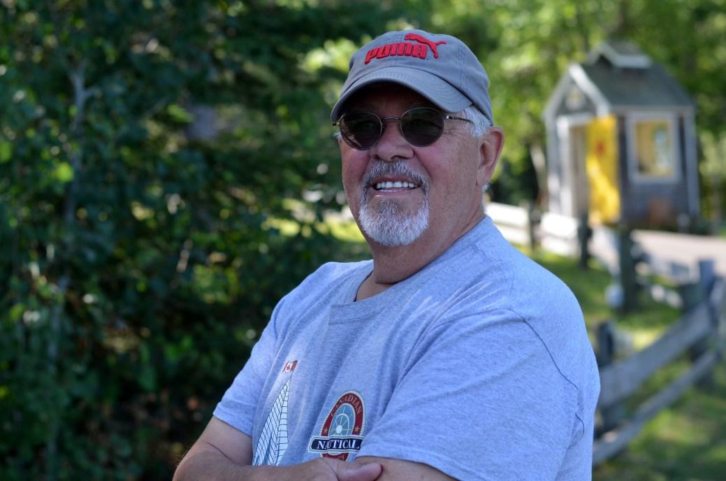 Guy Boutin, de Richmond au Québec, célèbre le 15 août en Acadie pour la première fois cette année. - Acadie Nouvelle: Jean-Marc Doiron