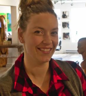 La propriétaire de la galerie Appel Art, Nausika Breau considère que tous les entrepreneurs de la rue St-George ont l'espoir que l'artère s'embellira. - Acadie Nouvelle: Cédric Thévenin