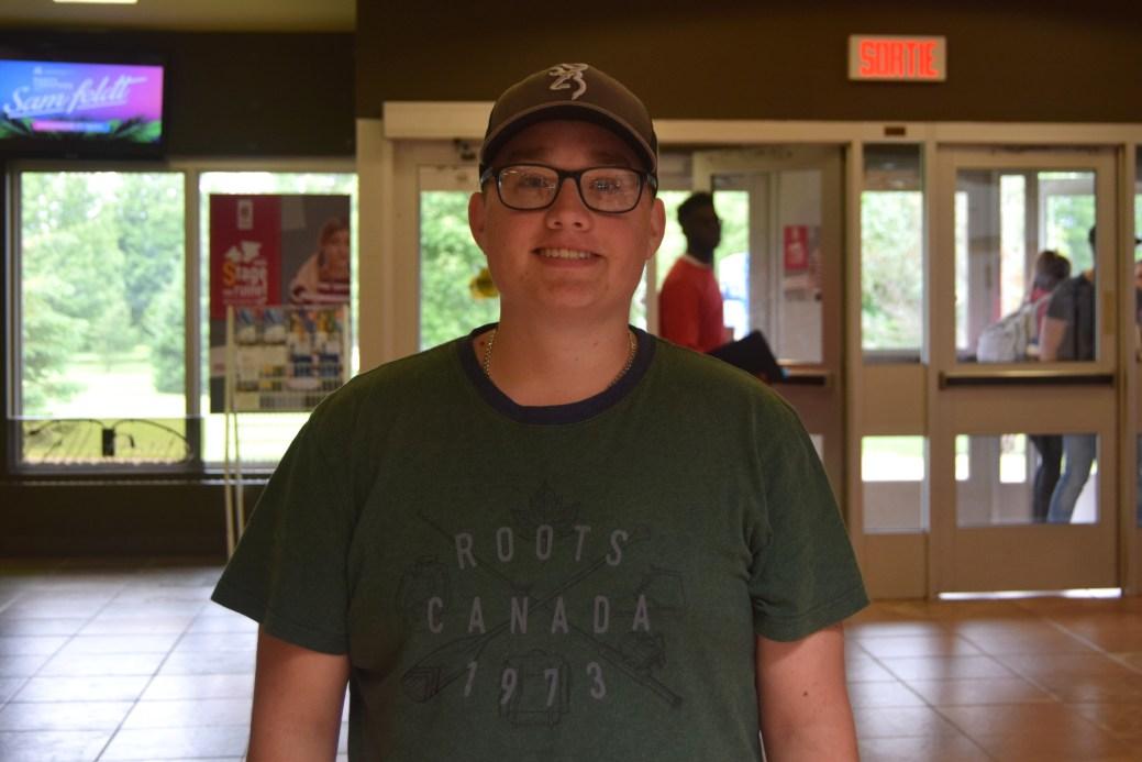 Eric Beaulieu, étudiant de première année en comptabilité à l'Université de Moncton. - Acadie Nouvelle: Lili Mercure