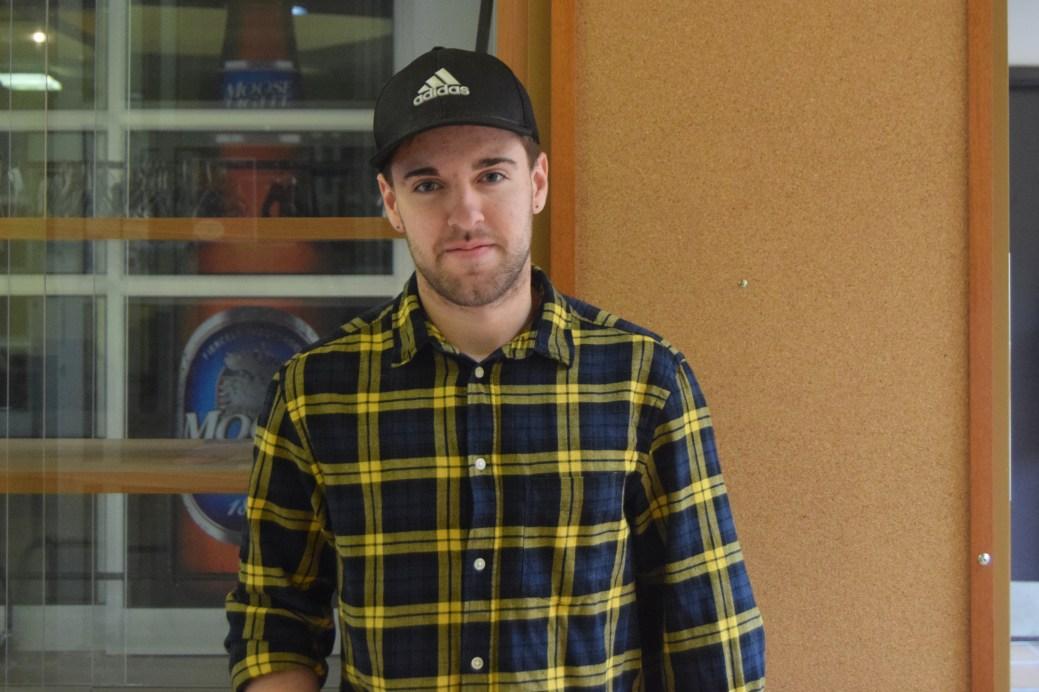 Nicolas Dionne, étudiant de deuxième année en génie civil à l'Université de Moncton. - Acadie Nouvelle: Lili Mercure