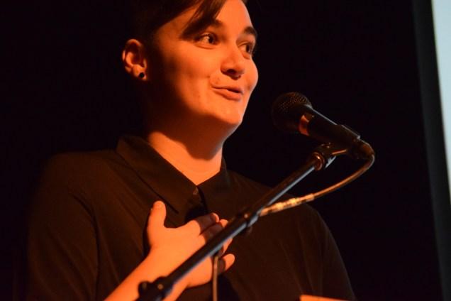 La responsable de la programmation du FICFA, Dominique Léger, était très fière de dévoiler la sélection de films du 33e FICFA. - Acadie Nouvelle: Sylvie Mousseau