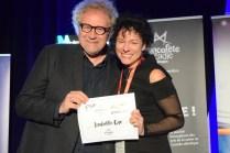 Isabelle Cyr a reçu deux prix à la FrancoFête dont celui du Réseau des grands espaces. Acadie Nouvelle: Sylvie Mousseau