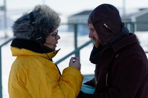 Denise Bouchard en compagnie de Pierre-Guy Blanchard lors du tournage du film Pour mieux t'aimer. - Gracieuseté: Emmanuel Albert