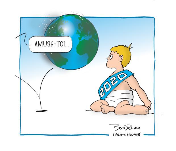 Caricature, 2 janvier 2020