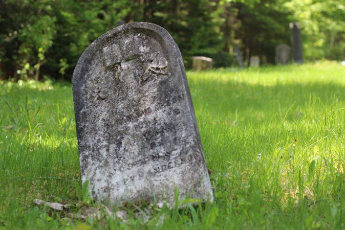 Un cimetière situé près de Springfield. - Acadie Nouvelle: Simon Delattre
